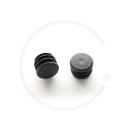 Handlebar Plugs Plastic Black | for Handlebar Ø 22.2mm (2 Pcs)