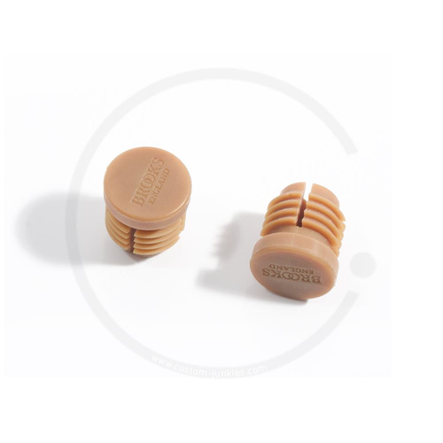 Brooks Cambium Rubber Plugs | Lenkerendstopfen - natural