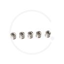 Kettenblattschrauben Singlespeed Stahl | silber (5 Stück)