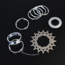 Single Speed Conversion Kit for Cassette Hubs Type (Shimano HG) - 16T