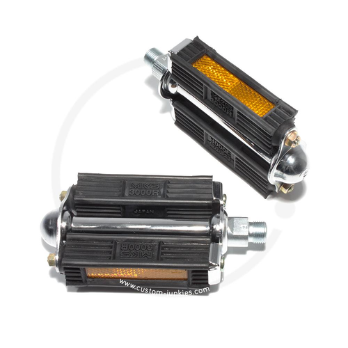 MKS 3000R Traditional Rubber Pedals | for Vintage Bikes