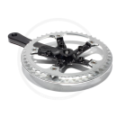 """Miche Team 1 Single Speed Cranks with Rock Ring 