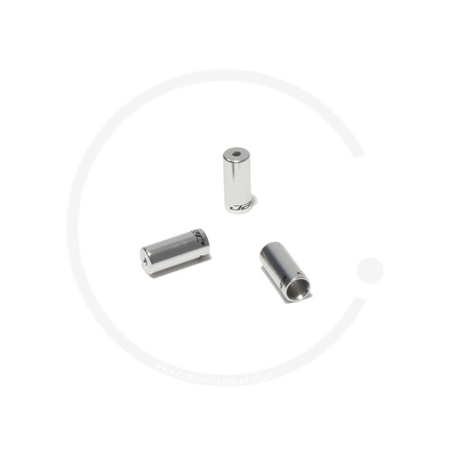 Jagwire Outer Shift Cable Housing End Cap | Alumnium silver | 4mm