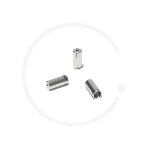 Jagwire Anschlaghülse für Schaltzugaußenhülle | Alu silber | 4mm - silber poliert