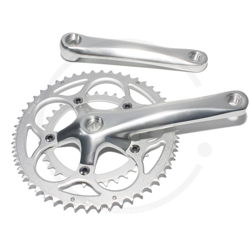 BB 170mm 50//34T NEW Aluminum Compact 7//8 Speed Road Bike Square Taper Crankset