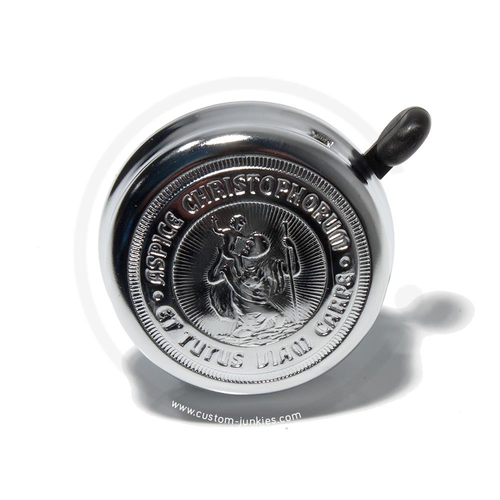 St. Christopherus Bicycle Bell | Chrome-plated | 60mm Diameter