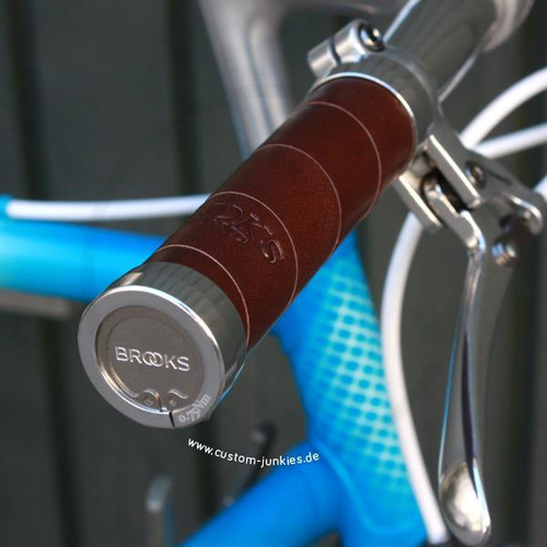 Brooks Slender Grips | Lock-On Griffe Leder - braun
