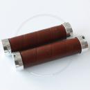 Brooks Slender Leather Grips - brown