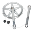 Retro Bike Steel Crankset | Square Taper | Chrome plated | 1/2 x 1 1/8"