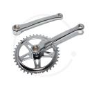 "Retro Bike Steel Crankset   Square Taper   Chrome plated   1/2 x 1 1/8""   170mm - 38T, 44T or 46T"