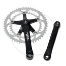 Miche Team 2 2x9s Crankset | black/silver | 170mm, 39/52T