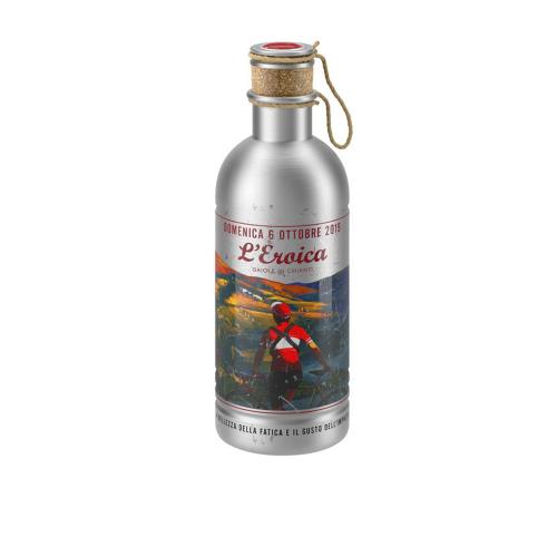 Elite Vintage *LEroica - 6 Ottobre 2019* Water Bottle | Aluminium Bottle with Cork | 600ml