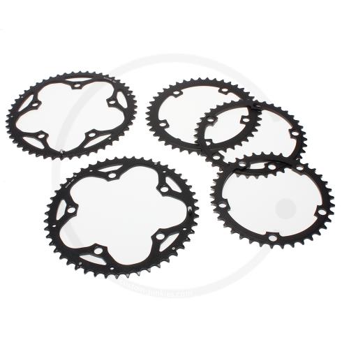 Aluminium Chainring | black | 130mm BCD