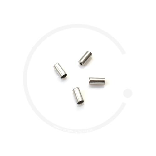 Jagwire Anschlaghülse für Bremszugaußenhülle | Stahl | silber | 5mm