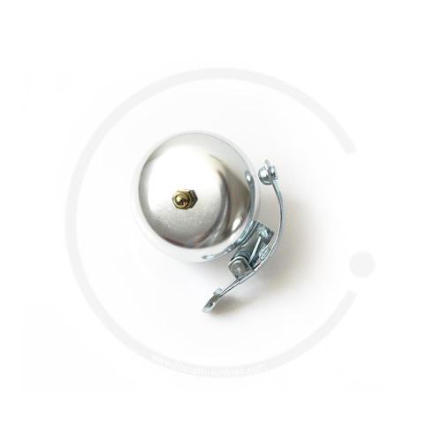 Klingel | Retro Rennrad Glocke mit Feder - silber
