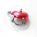 Klingel | Retro Rennrad Glocke mit Feder - rot