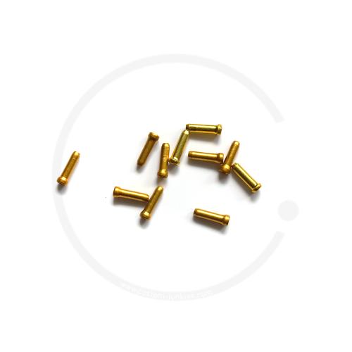 Endhülse/Quetschnippel Jagwire für Bremsinnenzug - gold