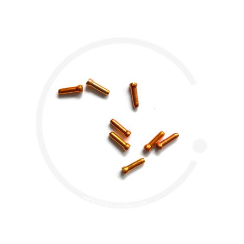Endhülse/Quetschnippel Jagwire für Bremsinnenzug - orange