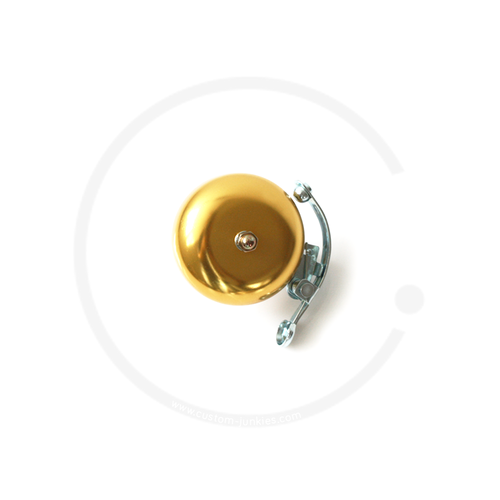 Klingel | Retro Rennrad Glocke mit Feder - gold