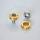 Kurbelschrauben mit farbiger Alukappe | Vierkant - gold