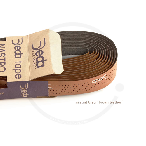Deda Tape | Synthetic Handlebar Tape - mistral brown leather