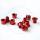 Kettenblattschrauben 2-fach | 8mm | Alu - rot