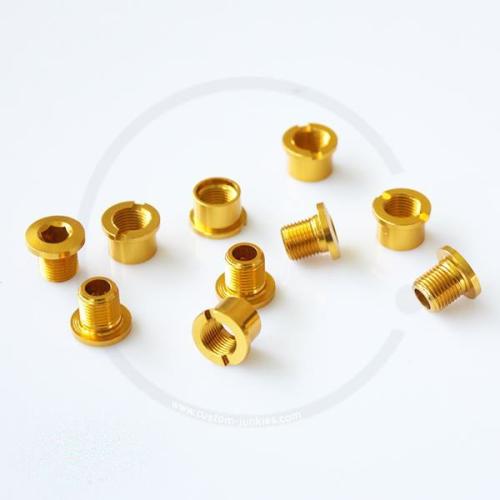 Kettenblattschrauben 2-fach | 8mm | Alu - gold
