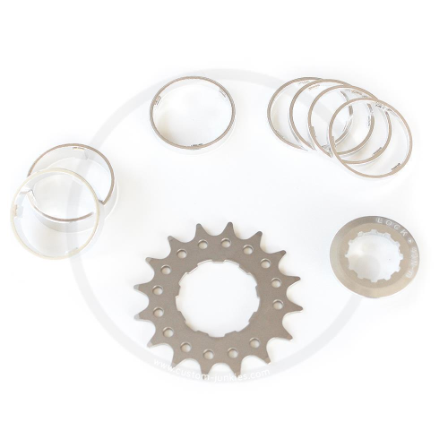 Single Speed Conversion Kit for Cassette Hubs Type (Shimano HG) - 15T