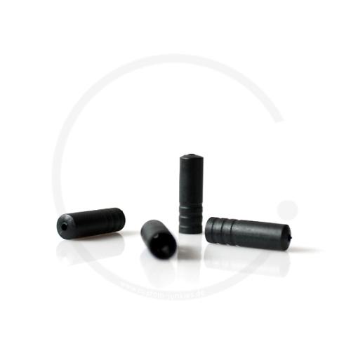 Anschlaghülse für Schaltzugaußenhülle Jagwire/YPK   Kunststoff schwarz   4mm