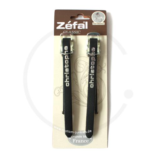 Zéfal Christophe 516 Leather Toe Straps - black