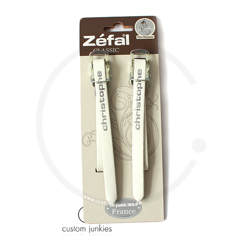 Zéfal Christophe 516 Leather Toe Straps - white