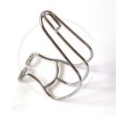MKS Cage Clip Pedalhaken | Stahl verchromt - Gr. M