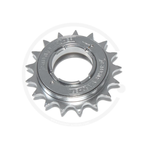 """Sturmey Archer Chrome Freewheel 1/8""""   English thread - 17T"""