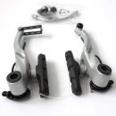 Shimano BR-T4000 | V-Brake | silber - Bremsenset (vo+hi)