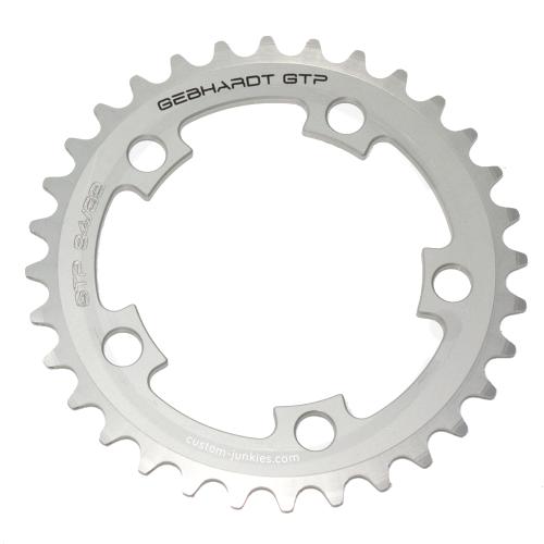 GEBHARDT Chainring Classic | Aluminium silver | 94mm BCD - 50T