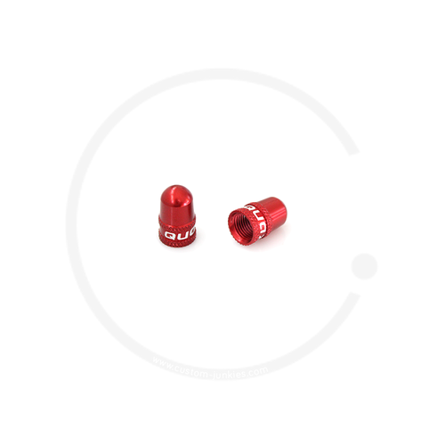 Ventilkappen | Alu eloxiert | für Autoventil (AV) | 2 Stück - rot
