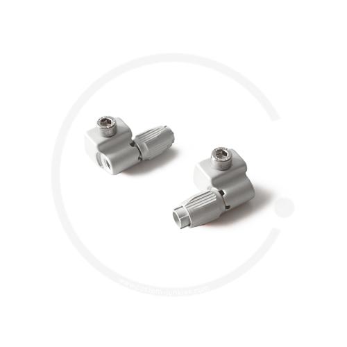 Schaltsockeladapter / Zuggegenhalter, einstellbar | silber-matt | 2 Stück