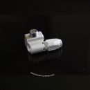 Concave Downtube Shift Cable Stops | silver matt