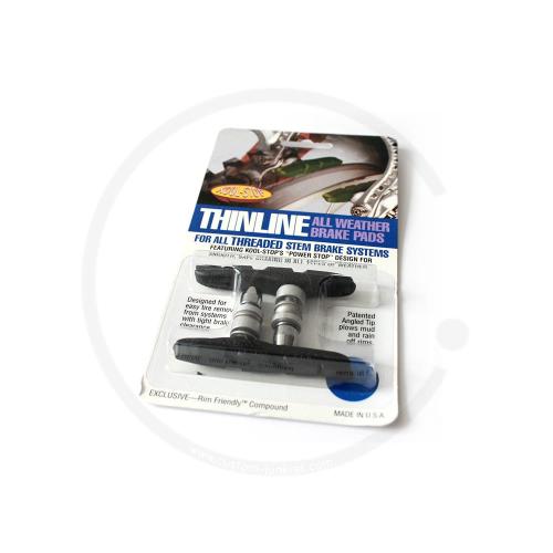 Bremsschuhe Kool Stop Thinline T2 universal | für V-Brake | schwarz